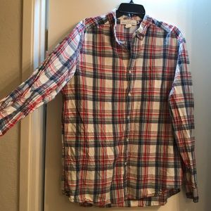 H&M plaid button up XL